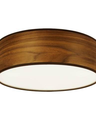 Stropné svietidlo z prírodnej dyhy vo farbe orechového dreva Sotto Luce TSURI, Ø 30 cm