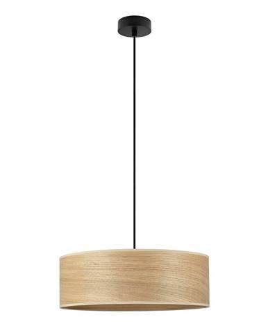 Závesné svietidlo s tienidlom z dubového dreva Sotto Luce TSURI XL