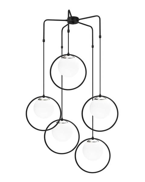 Opviq lights Čierne kovové závesné svietidlo Opviq lights Satyros