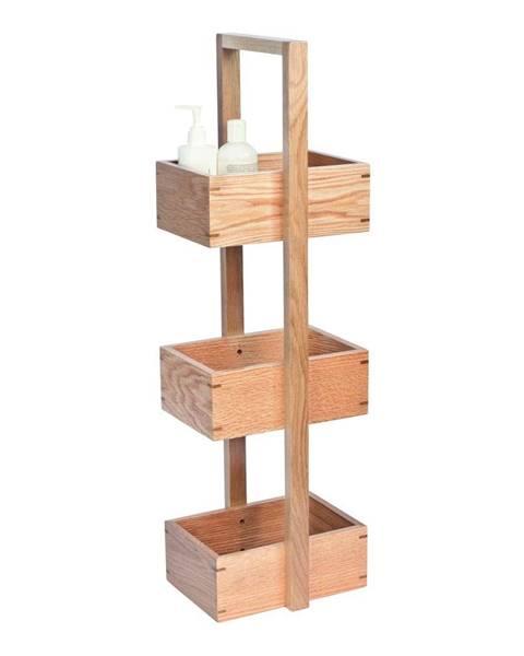 Wireworks Stojan do kúpeľne z dubového dreva Wireworks Caddy Mezza, výška 84cm