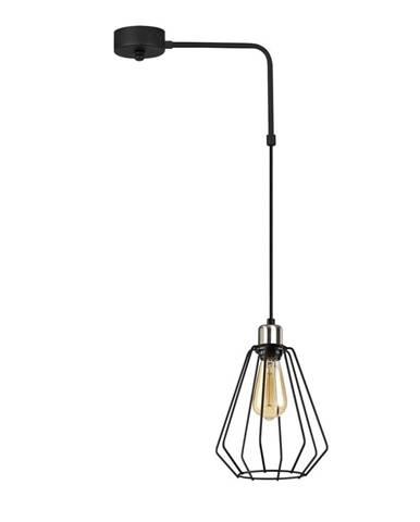 Čierne kovové závesné svietidlo Opviq lights Zach