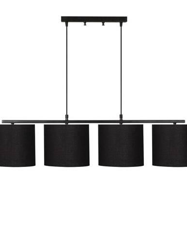 Čierne kovové závesné svietidlo s čiernymi tienidlami Opviq lights Jacob