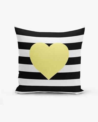 Obliečka na vaknúš s prímesou bavlny Minimalist Cushion Covers Striped Yellow, 45×45 cm