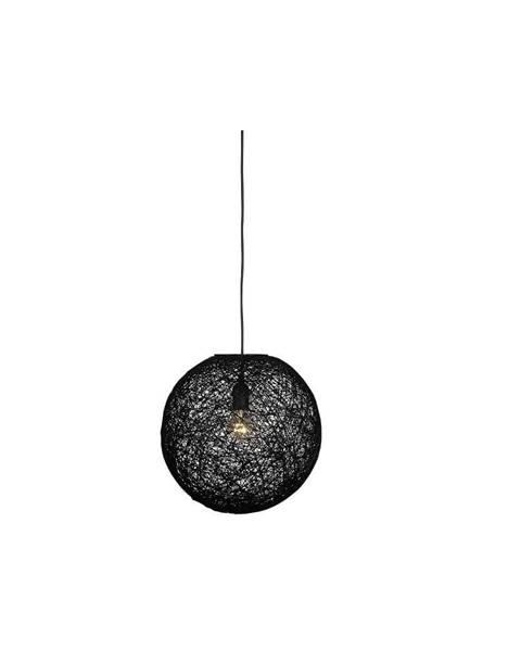 LABEL51 Čierne stropné svietidlo LABEL51 Twist, ⌀45 cm