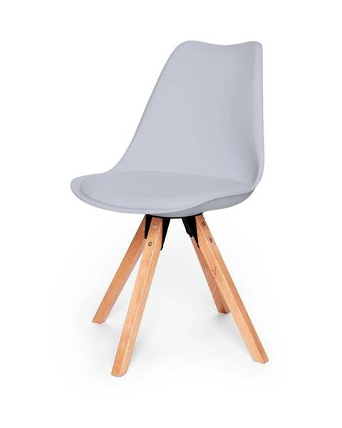 loomi.design Súprava 2 sivých stoličiek s podnožím z bukového dreva loomi.design Eco