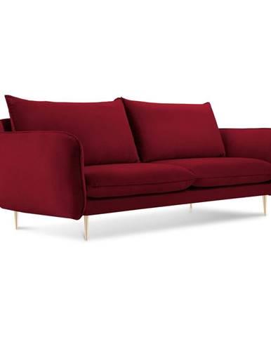 Červená pohovka so zamatovým poťahom Cosmopolitan Design Florence,160 cm