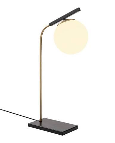 Čierna kovová stolová lampa Opviq lights Nona