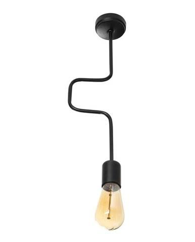 Čierne kovové závesné svietidlo Opviq lights Joshua