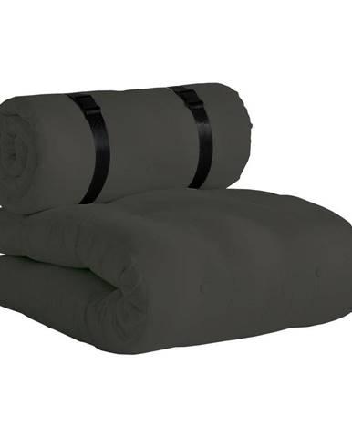 Tmavosivé rozkladacie kresielko vhodné do exteriéru Karup Design Design OUT™ Buckle Up Dark Grey