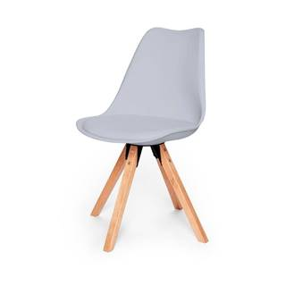 Súprava 2 sivých stoličiek s podnožím z bukového dreva loomi.design Eco