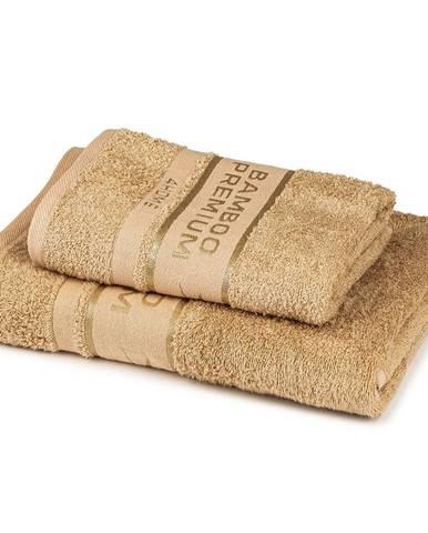 4Home Sada Bamboo Premium osuška a uterák béžová, 70 x 140 cm, 50 x 100 cm