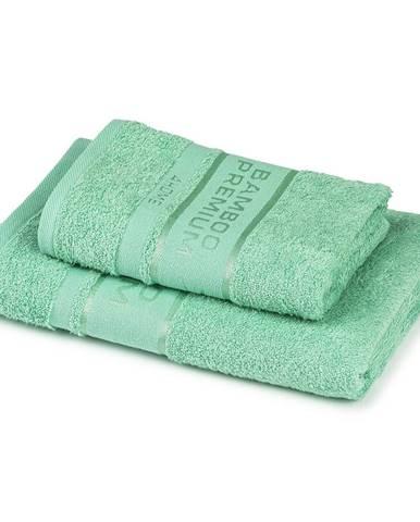 4Home Sada Bamboo Premium osuška a uterák, mentolová, 70 x 140 cm, 50 x 100 cm
