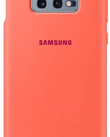 Kryt na mobil Samsung Silicon Cover na Galaxy S10e - Berry Pink