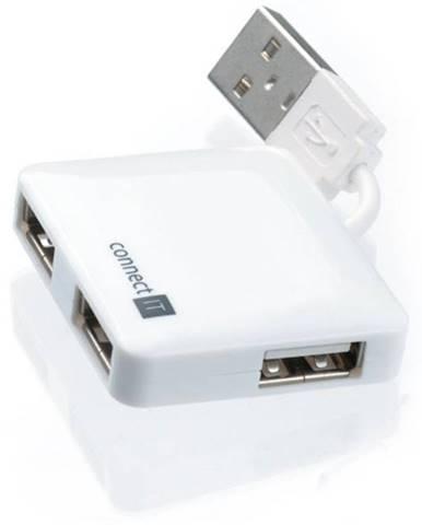 USB Hub Connect IT USB 2.0 / 4x USB 2.0 biely
