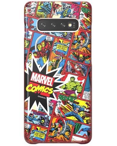 Kryt na mobil Samsung Marvel Comics na Galaxy S10+ červený