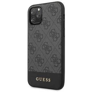Kryt na mobil Guess 4G Stripe na iPhone 11 Pro Max sivý