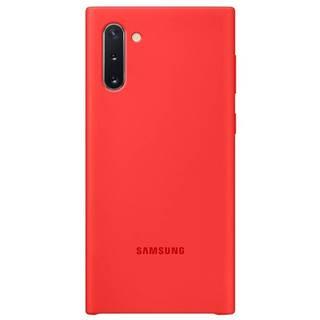 Kryt na mobil Samsung Silicon Cover na Galaxy Note10 červený