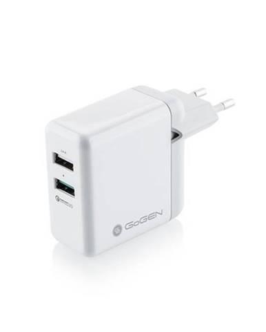 Nabíjačka do siete Gogen Achq 203, 2x USB, 2,4A s funkcí