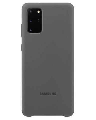 Kryt na mobil Samsung Silicon Cover na Galaxy S20+ sivý