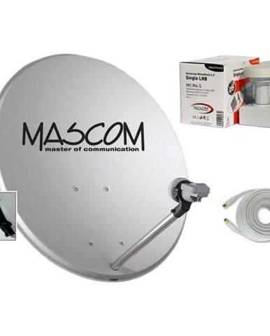 Parabola Mascom OP-VJ2 + LNB monoblock + kábel koax siv