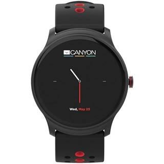 Inteligentné hodinky Canyon Oregano čierny/červený