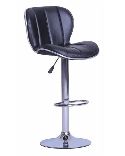 Tempo Kondela Barová stolička čierna/chrómovaná DUENA