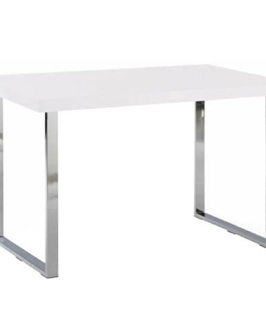 Jedálenský stôl biela HG + chróm TALOS