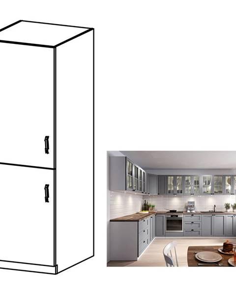 Kondela Skrinka na vstavanú chladničku sivá matná/biela ľavá LAYLA D60ZL
