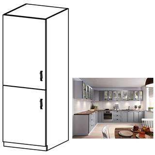 Vysoká skrinka sivá matná/biela ľavá LAYLA D60R