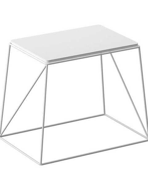 Tempo Kondela Príručný stolík biela KAREL poškodený tovar