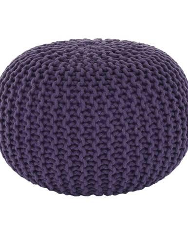 Pletený taburet fialová bavlna GOBI TYP 2