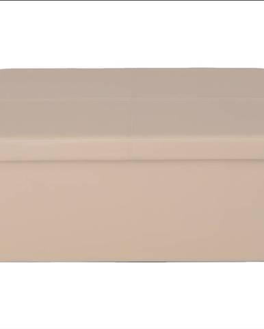 Skladací taburet hnedá ekokoža IMRA