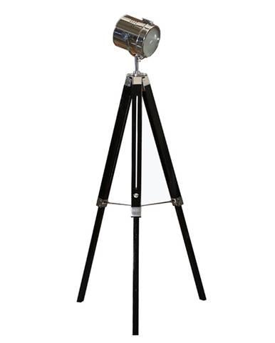 Stojacia lampa čierne drevo/kov CINDA TYP 26 YF819-B