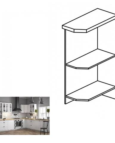 Dolná skrinka s dvomi policami D25PZ pravá biela PROVANCE