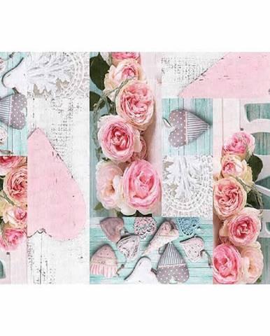 Koberec vzor ruže viacfarebný 80x150 SONIL TYP 2