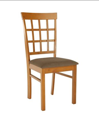 Stolička čerešňa/béžovohnedá GRID NEW