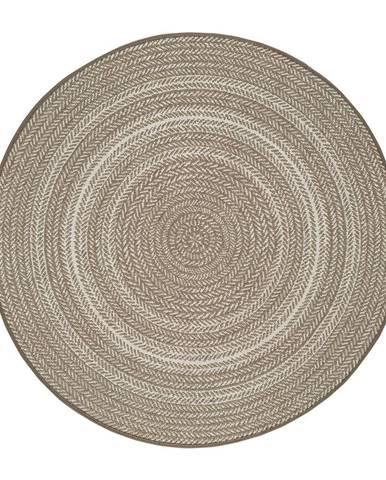 Béžový vonkajší koberec Universal Silvana Rutto, ⌀120 cm