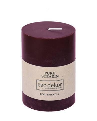 Vínovočervená sviečka Eco candles by Ego dekor Friendly, doba horenia 37 h