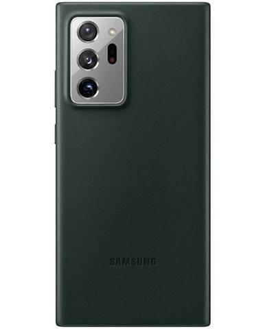 Kryt na mobil Samsung Leather Cover na Galaxy Note20 Ultra zelený