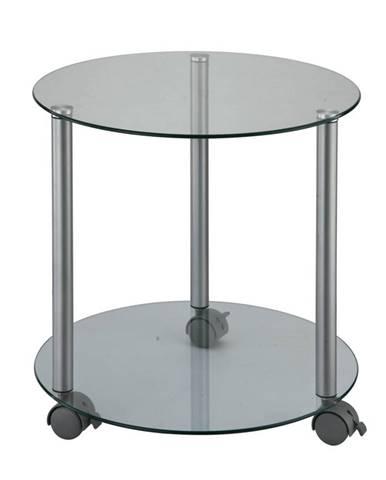 Pojazdný príručný stolík sivá TALAN