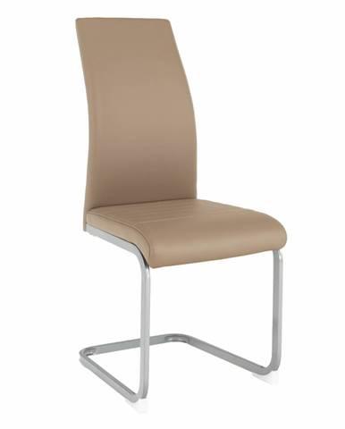 Jedálenská stolička sivohnedá TAUPE/sivá NOBATA rozbalený tovar