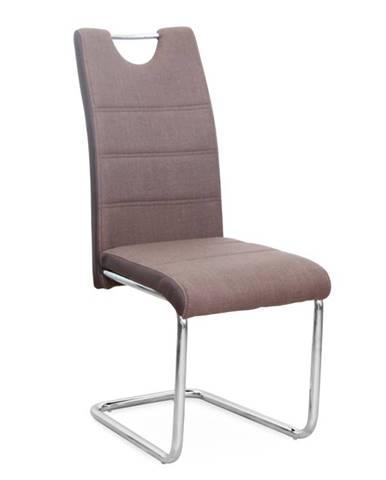 Stolička hnedá/chróm IZMA poškodený tovar-vysedené sedadlo