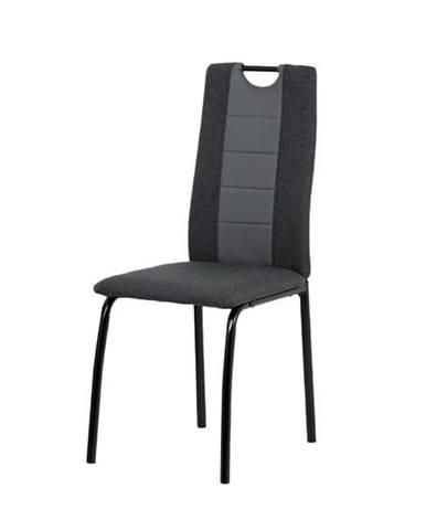 Jedálenská stolička CAMILLA čierna/sivá