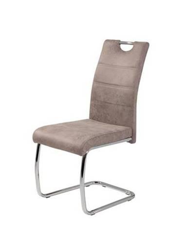 Jedálenská stolička FLORA S béžová, mikrovlákno