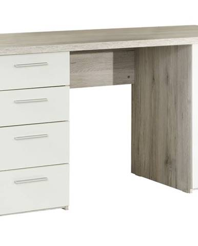 Písací stôl BEACH 25 dub pieskový/biela