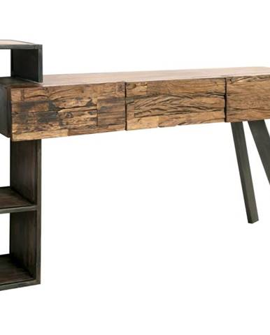 Písací stôl CITY prírodná akácia/sivá