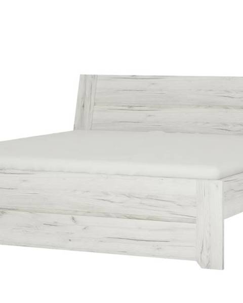 Sconto Posteľ ANGEL 91 dub craft biely, 180x200 cm