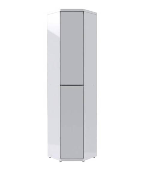 Sconto Rohová skriňa FLAP 2068 biela