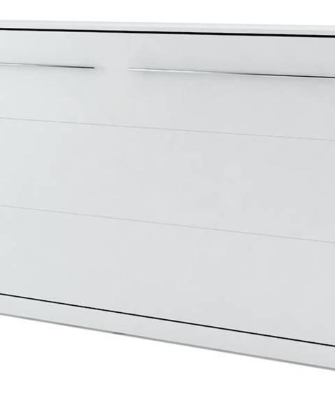 Sconto Výklopná posteľ CONCEPT PRO CP-04 biela matná, 140x200 cm, horizontálna