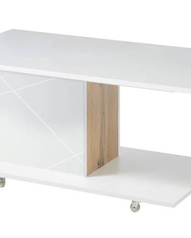Konferenčný stolík STORM biela/dub divoký